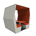 Meeting Pod BILL 6 Seater Orange & Grey