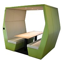 Meeting Pod BILL 6 Seater Green