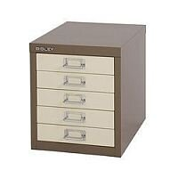 Bisley Multi-Drawer Cabinet 12 inches 5 Drawer Non-Locking Coffee/Cream 12/5