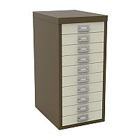 Bisley Multi-Drawer Cabinet 29 inches 10 Drawer Non-Locking Coffee/Cream 29/10