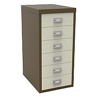 Bisley Multi-Drawer Cabinet 29 inches 6 Drawer Non-Locking Coffee/Cream 29/6