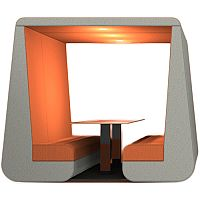 Meeting Den BOB Orange & Grey 6 Seater