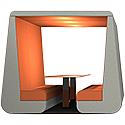 Meeting Den BOB Orange & Grey 6 Seater