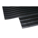 Broad Ribbed Matting 5mm 900mm x1 Linear Metre Black 379273