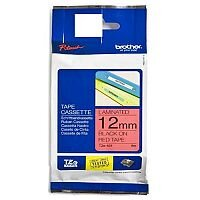 Brother P-touch TZe-431 (12mm x 8m) Black On Red Laminated Labelling Tape