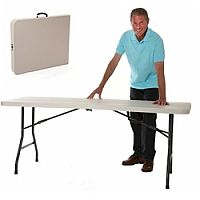 Easy Carry Folding Table In Case
