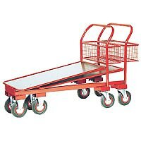 Red Nesting Cash and Carry Platform Trolley 750kg Capacity 310791