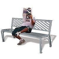 Cast Iron Bench Seat Ground Mountable Grey 370110