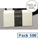 Conqueror DL Wallet Envelopes Peel and Seal Cream (Pack of 500)