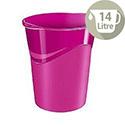 CEP Pro Gloss Office Waste Desk Bin Pink 14L