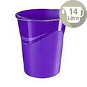 CEP Pro Gloss Office Waste Desk Bin Purple 14L