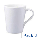 Classic White Mugs Pack of 6 F02305