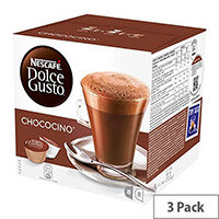 Nescafe Chococino for Dolce Gusto Machine Capsules - Makes 24 Drinks Extremely Chocolate Beverage with Notes of Vanilla and Creamy Texture Frothy Whole Milk