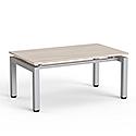 Rectangular Reception Coffee Table Arctic Oak Top & Silver Frame W1000xD600xH460