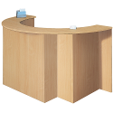Beech Semi Circular Reception Unit