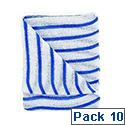 Contico Hygiene Cloth 16x12 Blue/White Pack of 10 HDBU1610P