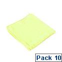Contico Microfibre Cloth 34x34cm Yellow Pack of 10 EM34YL