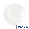 CPD 17cm Plate Pack of 6 White KDSNAV33