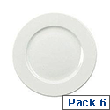 CPD 25cm Plate Pack of 6 White KDSNAV37