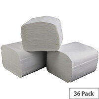 2Work Bulk Pack Dispenser Toilet Tissues Refills White 36 Sleeves 250 Sheets per Sleeve T34434