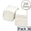2Work Bulk Pack Dispenser Toilet Tissue White Recycled 250 Sheets Pk 36 T34434