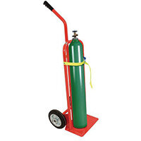 Cylinder Truck Lightweight Handle Fixed Red Capacity 135kg With Rubber Wheels 309050