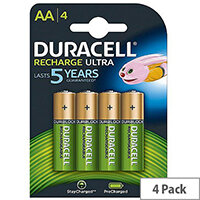Duracell Stay Charged Premium AA Rechargeable 2500mAh Batteries (Pack of 4)