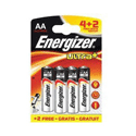 Energizer Ultra Plus Battery AA Pack of 4+2 626067 Promo Pack