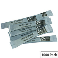 Fairtrade White Sugar Sticks Sachets Pack of 1000 A03622