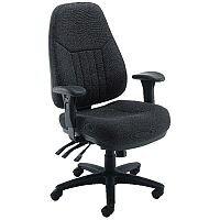Avior Luciana High Back Heavy Duty 24 Hour Task Operator Office Chair Black - Weight Tolerance: 150kg