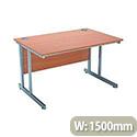 Jemini Intro 1500mm Rectangular Cantilever Desk Beech