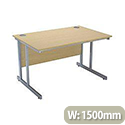 Jemini Intro 1500mm Rectangular Cantilever Desk Oak