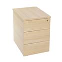 Jemini Intro Desk High Pedestal D800 Warm Maple