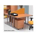 Jemini Wave Desk Screen 1600mm Blue KF73927