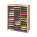 Safco 36 Mailroom Sorter Compartment Literature Organiser Oak