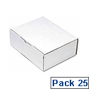 Flexocare Oyster Mailing Boxes 260x175mm White Pack of 25