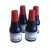 Franken Indian Ink Refill Cartridge Red Pack 4