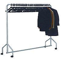 Garment Hanging Rail Plus 30 Hangers Silver 316939
