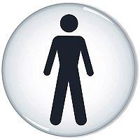 General Domed Sign Men Symbol 60mm