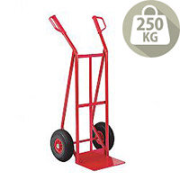 General Purpose Hand Truck Foam Tyres Red Puncture Proof Capacity 250Kg 308075