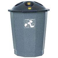 General Waste Recycling Bank Closed Flap Black/Granite 75L 361032