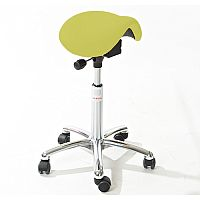 Mini Easymek Seat Saddle Stool With Easy Clean Green 3D Runner Seat Upholstery H570 - 760mm