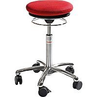 Pilates Air-Seat Ergonomic Stool With Easy Clean Red 3D Runner Seat Upholstery H450 - 640mm