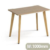Giza Rectangular Home Office Desk Kendal Oak Desktop & Natural Oak Wooden Legs W1000xD600xH750mm