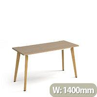 Giza Rectangular Home Office Desk Kendal Oak Desktop & Natural Oak Wooden Legs W1400xD600xH750mm