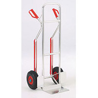 Hand Truck Aluminium Frame Capacity 110Kg With Pneumatic Wheels 354878