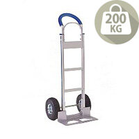 Hand Truck Comfort Handle Aluminium Capacity 200Kg With Pneumatic Wheels 317673