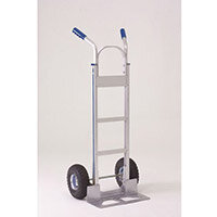 Hand Truck Open Footplate Aluminium With Pneumatic Wheels Capacity 200kg