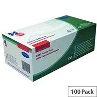 Disposable Powder-Free Latex Examination Gloves Natural Large Pack of 100 Handsafe GN32