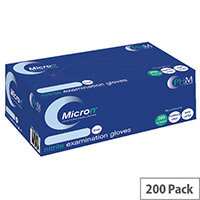 Disposable Powder-Free Nitrile Examination Gloves Large Box of 200 Blue Handsafe GN90
